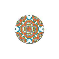 Digital Computer Graphic Geometric Kaleidoscope Golf Ball Marker (4 pack)