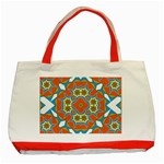 Digital Computer Graphic Geometric Kaleidoscope Classic Tote Bag (Red) Front