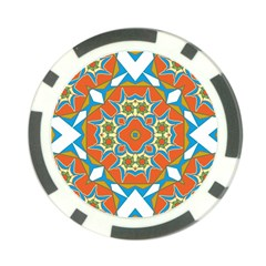 Digital Computer Graphic Geometric Kaleidoscope Poker Chip Card Guard