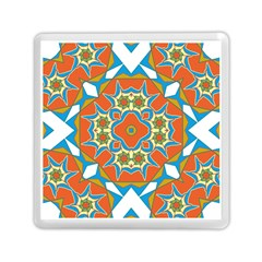 Digital Computer Graphic Geometric Kaleidoscope Memory Card Reader (square)