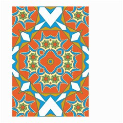 Digital Computer Graphic Geometric Kaleidoscope Small Garden Flag (two Sides)