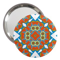 Digital Computer Graphic Geometric Kaleidoscope 3  Handbag Mirrors