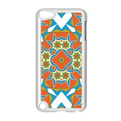 Digital Computer Graphic Geometric Kaleidoscope Apple iPod Touch 5 Case (White)