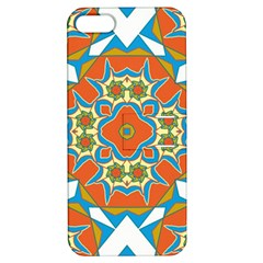 Digital Computer Graphic Geometric Kaleidoscope Apple iPhone 5 Hardshell Case with Stand