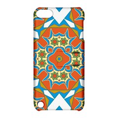 Digital Computer Graphic Geometric Kaleidoscope Apple iPod Touch 5 Hardshell Case with Stand