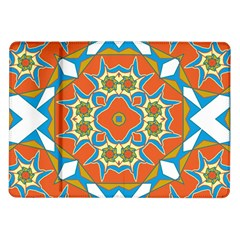 Digital Computer Graphic Geometric Kaleidoscope Samsung Galaxy Tab 10.1  P7500 Flip Case