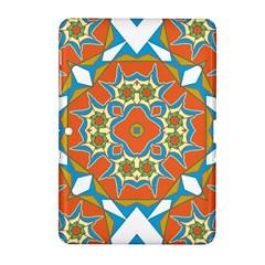 Digital Computer Graphic Geometric Kaleidoscope Samsung Galaxy Tab 2 (10.1 ) P5100 Hardshell Case