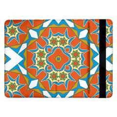 Digital Computer Graphic Geometric Kaleidoscope Samsung Galaxy Tab Pro 12 2  Flip Case