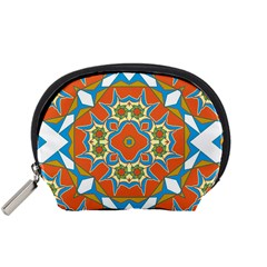 Digital Computer Graphic Geometric Kaleidoscope Accessory Pouches (Small)