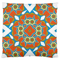 Digital Computer Graphic Geometric Kaleidoscope Large Flano Cushion Case (One Side)