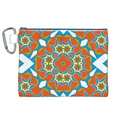 Digital Computer Graphic Geometric Kaleidoscope Canvas Cosmetic Bag (XL)