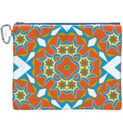 Digital Computer Graphic Geometric Kaleidoscope Canvas Cosmetic Bag (xxxl)
