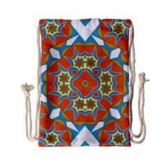 Digital Computer Graphic Geometric Kaleidoscope Drawstring Bag (Small)
