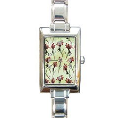 Vintage Style Seamless Floral Wallpaper Pattern Background Rectangle Italian Charm Watch