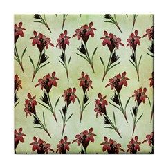 Vintage Style Seamless Floral Wallpaper Pattern Background Tile Coasters