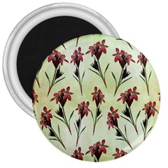 Vintage Style Seamless Floral Wallpaper Pattern Background 3  Magnets