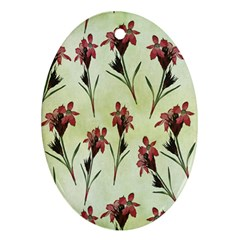 Vintage Style Seamless Floral Wallpaper Pattern Background Ornament (oval)