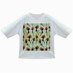 Vintage Style Seamless Floral Wallpaper Pattern Background Infant/toddler T Shirts