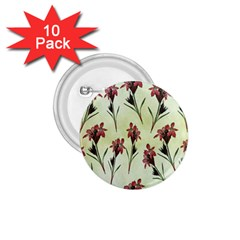 Vintage Style Seamless Floral Wallpaper Pattern Background 1 75  Buttons (10 Pack)