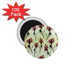 Vintage Style Seamless Floral Wallpaper Pattern Background 1.75  Magnets (100 pack)
