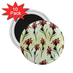 Vintage Style Seamless Floral Wallpaper Pattern Background 2 25  Magnets (10 Pack)