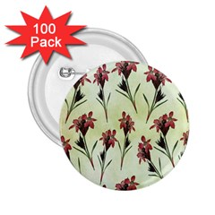 Vintage Style Seamless Floral Wallpaper Pattern Background 2.25  Buttons (100 pack)