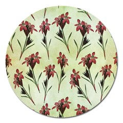 Vintage Style Seamless Floral Wallpaper Pattern Background Magnet 5  (Round)