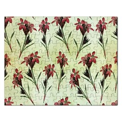 Vintage Style Seamless Floral Wallpaper Pattern Background Rectangular Jigsaw Puzzl