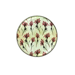Vintage Style Seamless Floral Wallpaper Pattern Background Hat Clip Ball Marker (4 Pack)