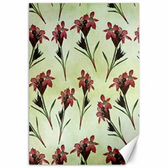 Vintage Style Seamless Floral Wallpaper Pattern Background Canvas 12  X 18