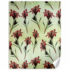 Vintage Style Seamless Floral Wallpaper Pattern Background Canvas 18  X 24