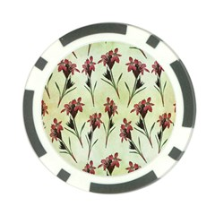 Vintage Style Seamless Floral Wallpaper Pattern Background Poker Chip Card Guard