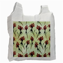 Vintage Style Seamless Floral Wallpaper Pattern Background Recycle Bag (Two Side)