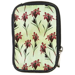 Vintage Style Seamless Floral Wallpaper Pattern Background Compact Camera Cases