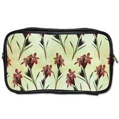 Vintage Style Seamless Floral Wallpaper Pattern Background Toiletries Bags 2 Side