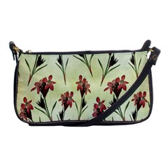 Vintage Style Seamless Floral Wallpaper Pattern Background Shoulder Clutch Bags