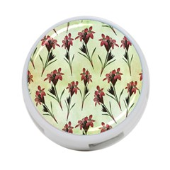 Vintage Style Seamless Floral Wallpaper Pattern Background 4-Port USB Hub (One Side)