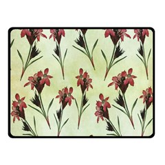 Vintage Style Seamless Floral Wallpaper Pattern Background Fleece Blanket (small)