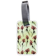 Vintage Style Seamless Floral Wallpaper Pattern Background Luggage Tags (One Side)