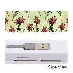 Vintage Style Seamless Floral Wallpaper Pattern Background Memory Card Reader (stick)
