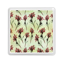 Vintage Style Seamless Floral Wallpaper Pattern Background Memory Card Reader (square)