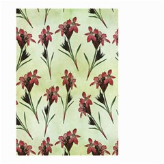Vintage Style Seamless Floral Wallpaper Pattern Background Small Garden Flag (two Sides)