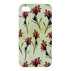 Vintage Style Seamless Floral Wallpaper Pattern Background Apple Iphone 4/4s Premium Hardshell Case