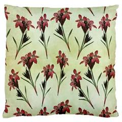 Vintage Style Seamless Floral Wallpaper Pattern Background Large Cushion Case (one Side)