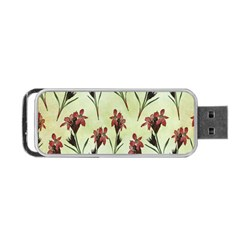 Vintage Style Seamless Floral Wallpaper Pattern Background Portable USB Flash (Two Sides)