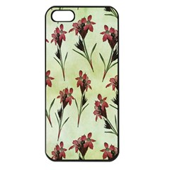 Vintage Style Seamless Floral Wallpaper Pattern Background Apple iPhone 5 Seamless Case (Black)