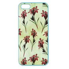 Vintage Style Seamless Floral Wallpaper Pattern Background Apple Seamless iPhone 5 Case (Color)