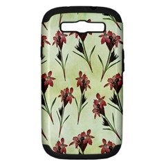 Vintage Style Seamless Floral Wallpaper Pattern Background Samsung Galaxy S III Hardshell Case (PC+Silicone)
