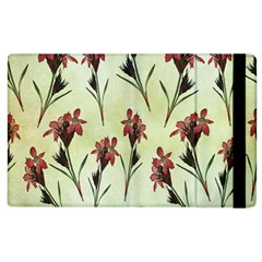 Vintage Style Seamless Floral Wallpaper Pattern Background Apple iPad 3/4 Flip Case