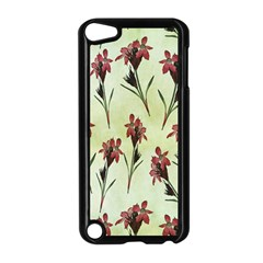 Vintage Style Seamless Floral Wallpaper Pattern Background Apple iPod Touch 5 Case (Black)